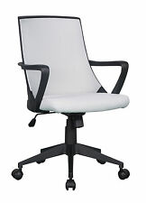 Sixbros. Chaise de bureau Tissu Gris/noir 0722m/2245