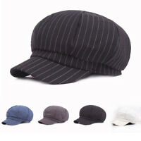 Men's Cotton Gatsby Newsboy Hat Cabbie Driver Bakerboy Cap Peaky Flat Hats