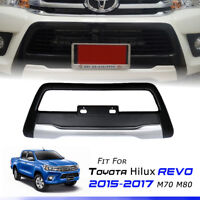 MATTE BLACK FRONT BUMPER GUARD COVER FOR TOYOTA HILUX REVO M70 M80 2015 2016 17