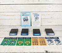 Intellivision Video Game Cartridge Bundle: Baseball, Tennis, Bowling & Skiing