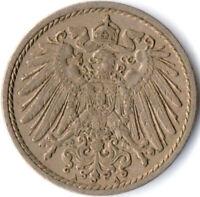 COIN / GERMAN EMPIRE / 5 PFENNIG, 1911   #WT3073