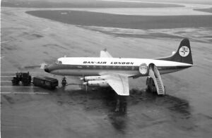 Dan-Air, Viscount 708, G-ARIR at East Midlands, 24 Dec 1975; original negative