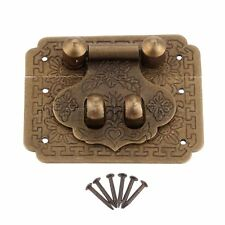 Retro Brass Hasp Chest Latch Lock Buckle For Wood Jewelry Box Cabinet Suitcase