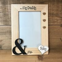 Personalised Photo Picture Frame Fathers Day Dad Daddy & Me Grandad  Gift