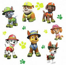 PAW PATROL JUNGLE wall stickers 15 BIG decals dog puppies Ryder Chase Marshall +