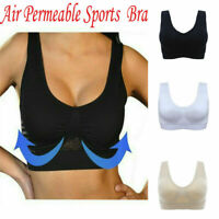 Air Permeable Cooling Summer Seamless Women Sport Gym Yoga Wireless Comfort Bra