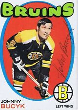 Johnny Bucyk 1971 Topps Autograph #35 Bruins