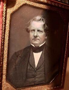 1/4 Daguerreotype Important Man, Sealed, Full Case, Excellent Condition 1800s