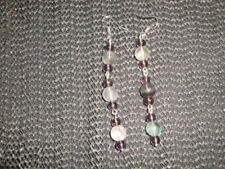 Fabulous Ametrine & Fluorite long drop earrings