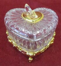 FRANKLIN MINT Disney CINDERELLA CRYSTAL HEART w/ 24 KT Gold Plate