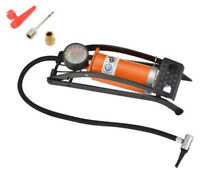 Fußpumpe 1Zyl. Pumpe inkl. Adapter Manometer Fahrrad Auto Luftpumpe bis 7 bar