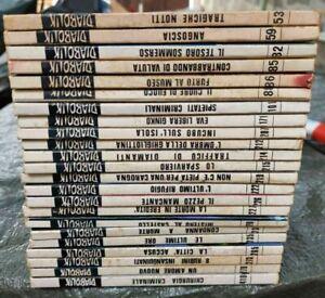 Diabolik Italian Comic Book lot of 23 since around 1981
