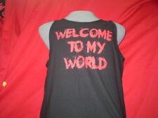 "Rich Piana sleeveless shirt ""WELCOME TO MY WORLD""  Size XLARGE . BLACK,  NEW."