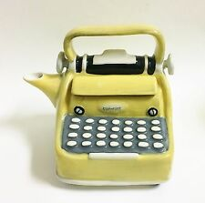 NEW BLUE SKY YELLOW+GRAY+WHITE+BLACK CERAMIC TYPEWRITER TEAPOT,TEA,COFFEE POT