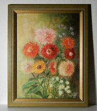 Ölgemälde Impressionismus Blumen Stillleben Leinwand Öl Gemälde signiert 1991