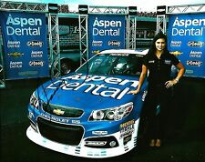2015 Danica Patrick ASPEN DENTAL GODADDY.COM NASCAR Signed 8x10 Photo