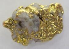 GOLD NUGGET Alaskan 1.316 GRAMS Natural Placer Faith Creek Hi Purity WH Quartz