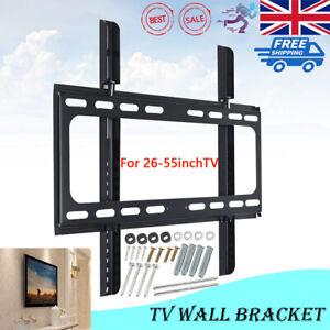 TV Wall Bracket Mount Slim LCD LED Plasma For 26 30 32 37 40 42 47 50 55 inch