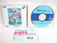 PC-Engine SCD THE DAVIS CUP TENNIS with SPINE * PCE Grafx Japan Game pe