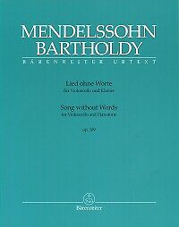 MENDELSSOHN SONG WITHOUT WORDS Op109 Cello & Pf
