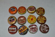 12 Different Cork backed Root Beer pop bottle caps