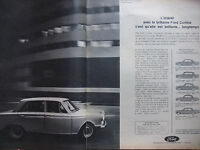 PUBLICITÉ DE PRESSE 1964 FORD CORTINA - ADVERTISING