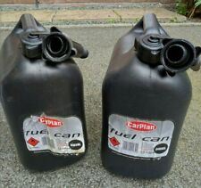 2 X FUEL CAN TANK 10L TEN LITRE BLACK PLASTIC, PETROL, WATER, DIESEL CONTAINER