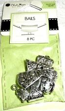 BAILS Blue Moon Beads - DECO - Antique Silver Finish - 8 pieces