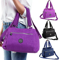 Unisex Nylon Causal Handbag Shoulder Bag Tote Hobo Satchel PU Handle Messenger