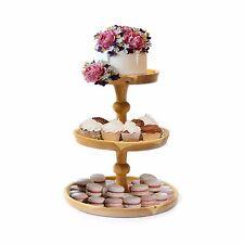 Large cake stand Wooden Cake display 3 Tier Wedding Fruit Cupcake platform