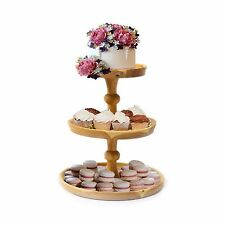 3 Tier Wedding Cake Stand Wooden Cake Display Fruit Cupcake Platform Party Large (height 28 Cm)