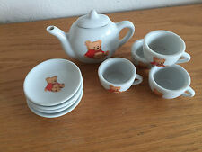 Battat Miniature Tea Set Childs   American Girl  Teddy Bear Design   9 Pcs.