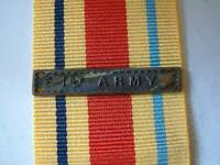WW2 BRITISH 1st ARMY BAR CLASP for AFRICA STAR MEDAL RIBBON MONTY COMMONWEALTH
