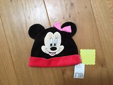 Mother Minnie Mouse Hat Disney Ear Hat Velvet Black Red Hat S12mths NWT Cute