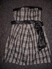 brand new next silver black bandeau dress size 14