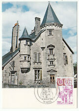 CARTE MAXIMUM FDC 1976 TIMBRE N° 1872 USSEL L HOTEL DE VENTADOUR