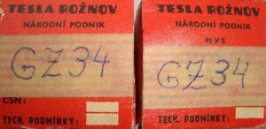 GZ34 TELEFUNKEN a pair tube valves