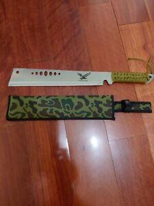 Heavy blunt end EAGLE MACHETE MACHETTE Stainless Steel   BackPack Knife survival