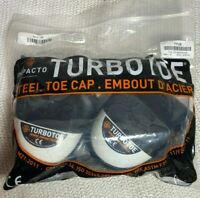 Turbo Toe Black Steel Cap Cover Shoes Size Small