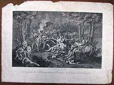 SET OF THREE 18c. FRENCH ENGRAVINGS  WITH FRENCH REVOLUTION SCENES.