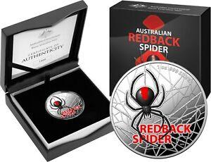 Australia 2021 $1 Redback Spider Coloured 1 Oz .999 Silver Proof