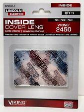 Lincoln Electric Kp2931 1 Viking 2450 5 Pack Helmet Inside Cover Lens