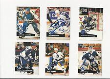 91/92 Pro Set Autographed Hockey Card Rob Pearson Toronto Maple Leafs