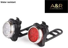 Bike LED Rechargeable Lights - very bright & powerful UK STOCK 1 white & 1 Red