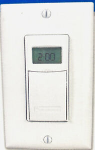 INTERMATIC ST01 - 7 DAY PROGRAMMABLE INDOOR IN WALL  DIGITAL TIMER WHITE 15A