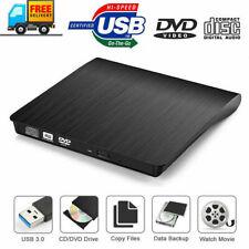 Usb 2.0 3.0 External Dvd/Cd-Rw Cd-Rom Drive Writer Burner For Windows Pc Macbook