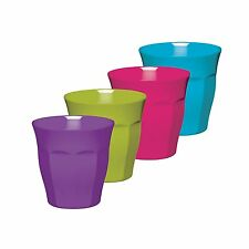 Kitchen Craft Colourworks Melamine Tumblers, 225 ml - Set of 4   *FREE DELIVERY*