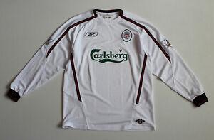 Liverpool 2003 - 2005 Away Football Shirt Jersey Longsleeve (size M)