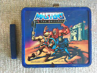 VINTAGE 1984 MASTERS OF THE UNIVERSE METAL LUNCH BOX WITH THERMOS