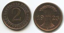 G10208 - Deutsches Reich 2 Rentenpfennig 1923 A KM#31 Weimar Germany